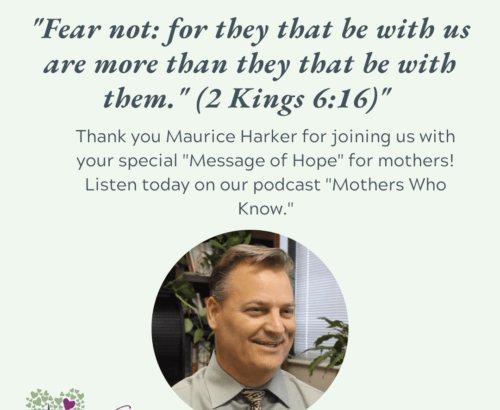 Maurice Harker with a Message of Hope to mothers